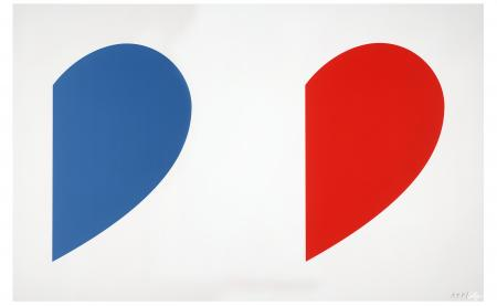 Ellsworth Kelly, Blue Curve / Red Curve, 2014