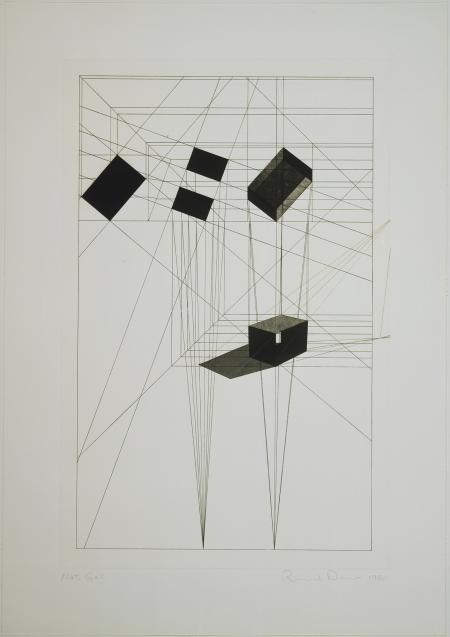 Ronald Davis, Rotation-Tilt, Black State, 1984