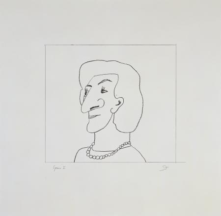 Saul Steinberg, Portrait of M, 1997