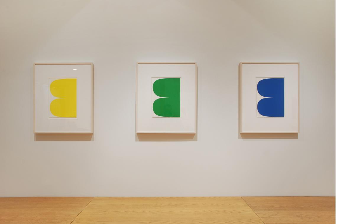 Ellsworth Kelly, Yellow Curves, 2013; Ellsworth Kelly, Green Curves, 2013; Ellsworth Kelly, Blue Curves, 2013
