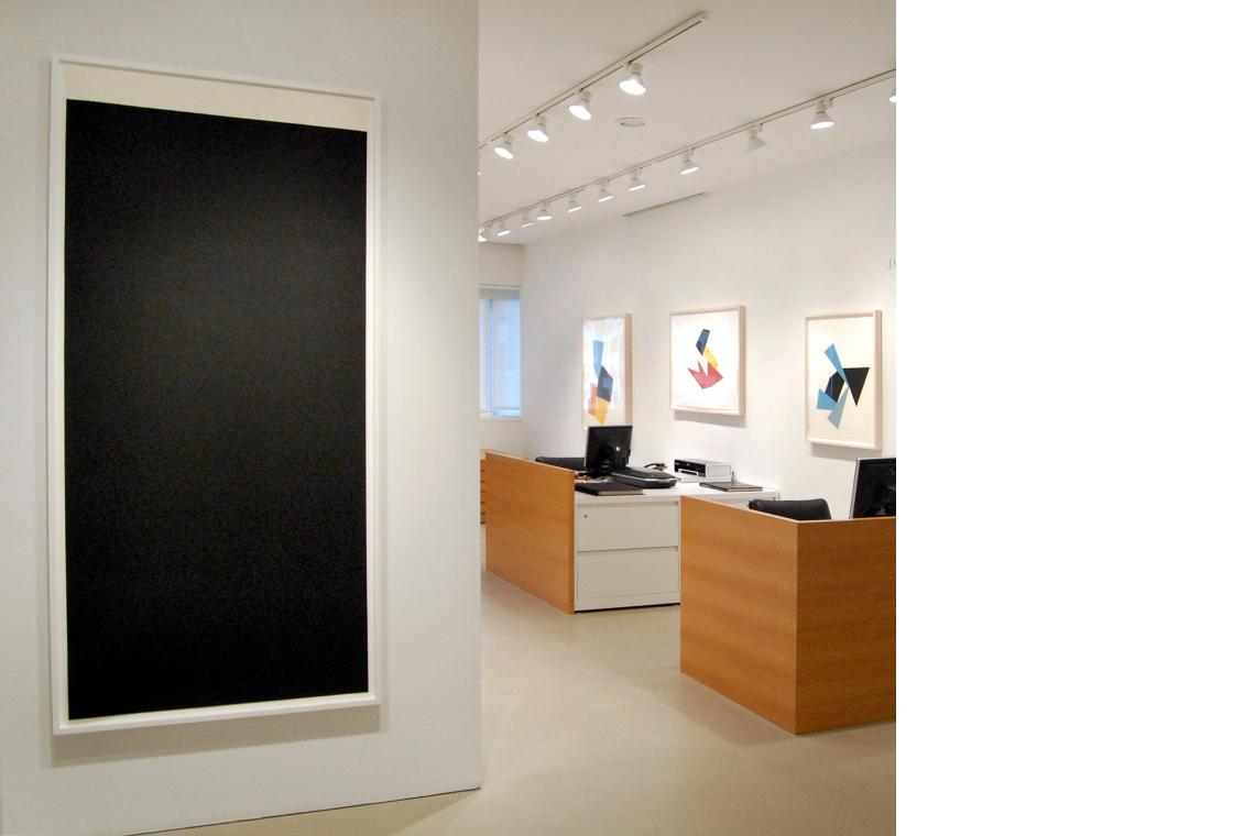 Left to right:: Richard Serra, Weight I, 2009; Joel Shapiro, Boat, Bird, Mother and Child (i), 2009; Boat, Bird, Mother and Child (d), 2009; Boat, Bird, Mother and Child (f), 2009