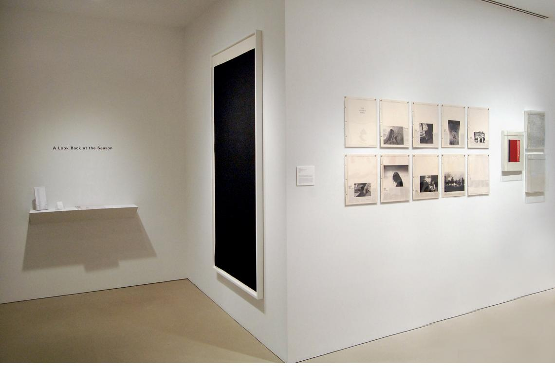 Left to right: Richard Serra, Weight I, 2009; Sophie Calle, The Address Book, 2009