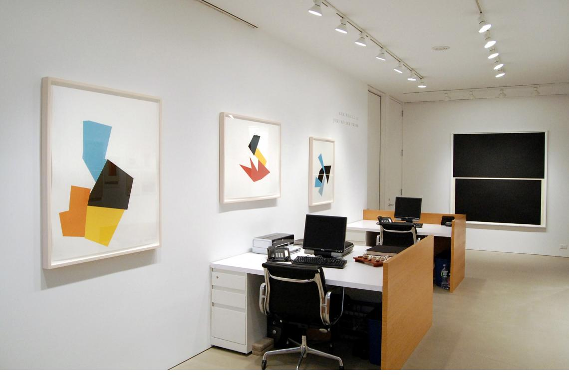 Left to right: Joel Shapiro, Boat, Bird, Mother and Child (i), 2009; Boat, Bird, Mother and Child (d), 2009; Boat, Bird, Mother and Child (f), 2009; Richard Serra, Double Level I, 2009
