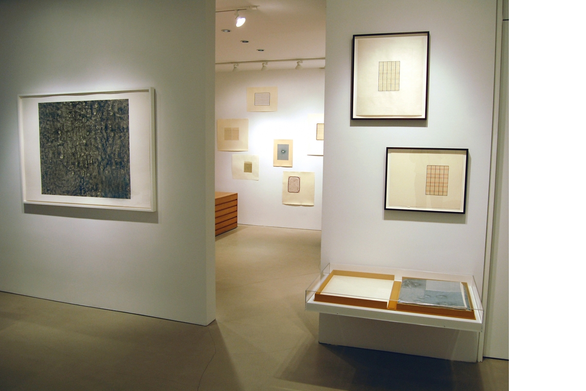 Left to Right: gauge (black), 2007; script a, g, f, b, d, q, and i, 2008; legend (in display case), 2007