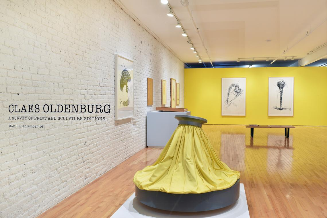 Claes Oldenburg: A Survey of Print and Sculpture Editions Installation View