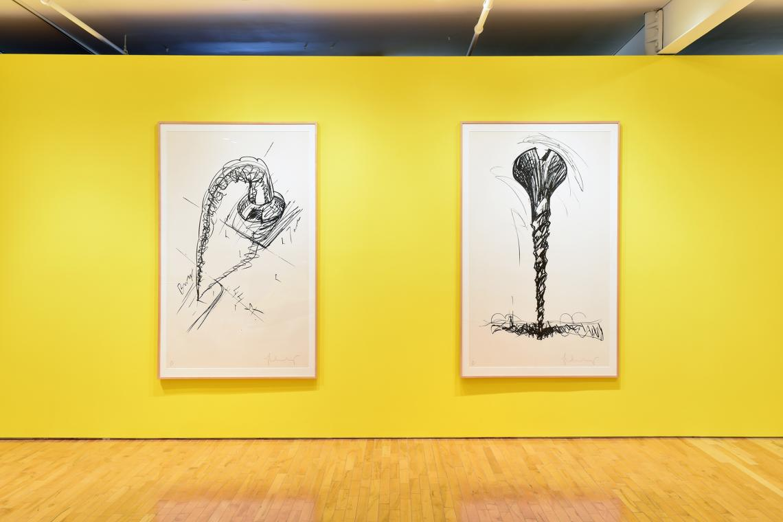Claes Oldenburg, Arch in the form of a Screw, for Times Square NYC, 1976; Colassal Screw in Landscape- Type 2, 1976