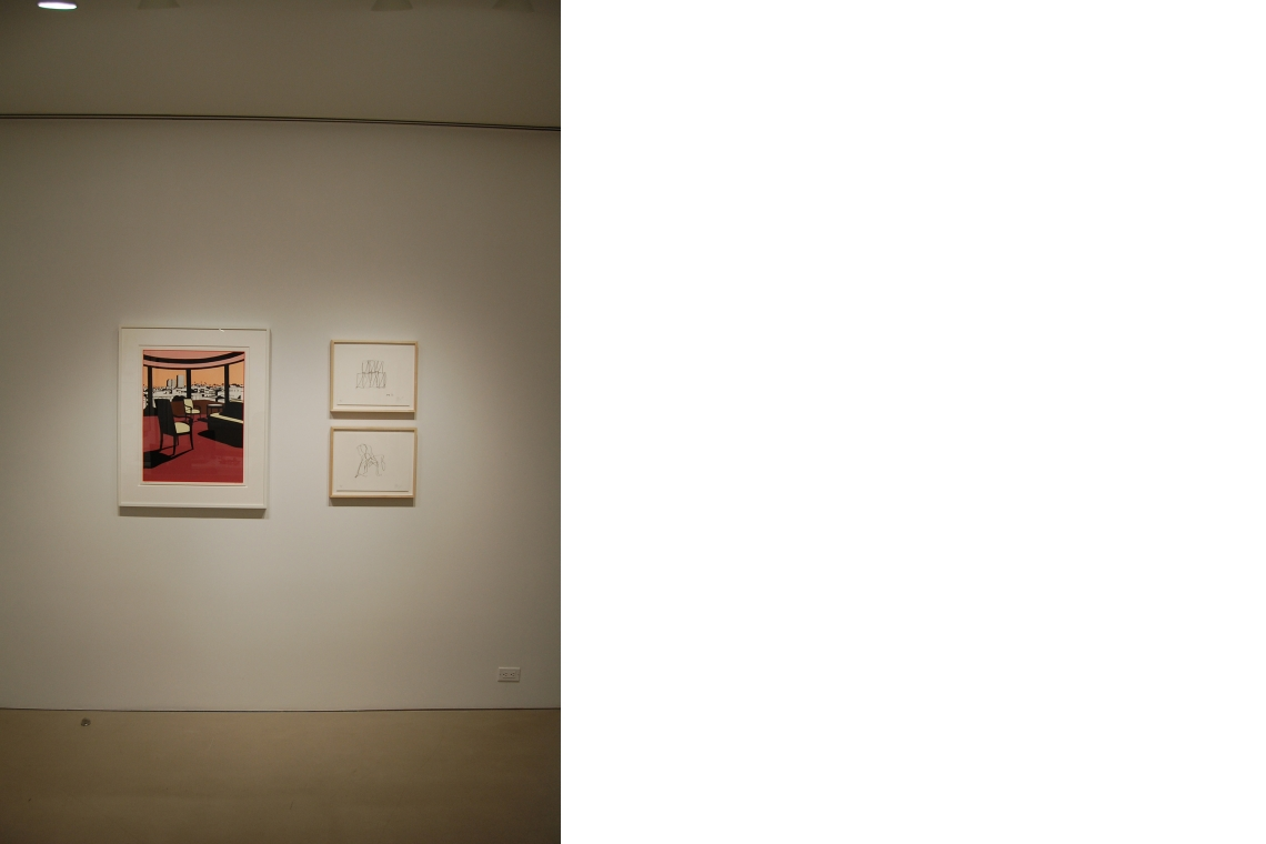 Left to right: Ken Price, Western Sunset, 1993; Frank Gehry, IAC I, 2007 (above); Chair 2; 2007 (below)
