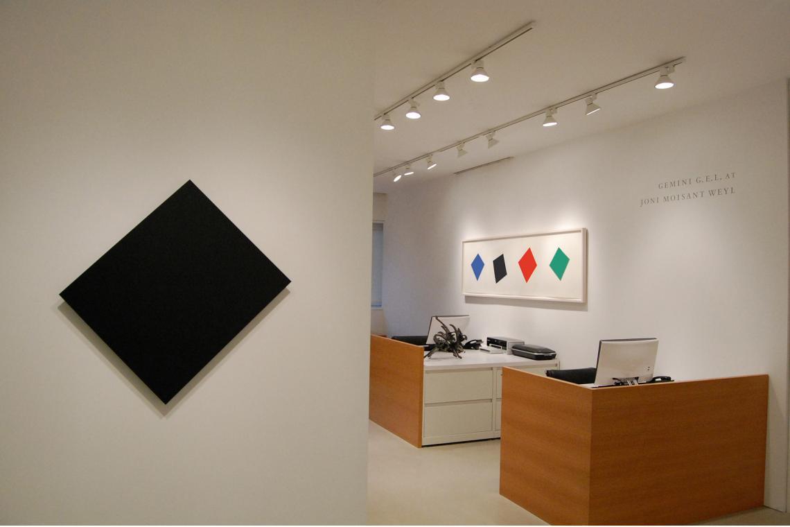 Black Panel, 1982; Blue/Black/Red/Green, 2001