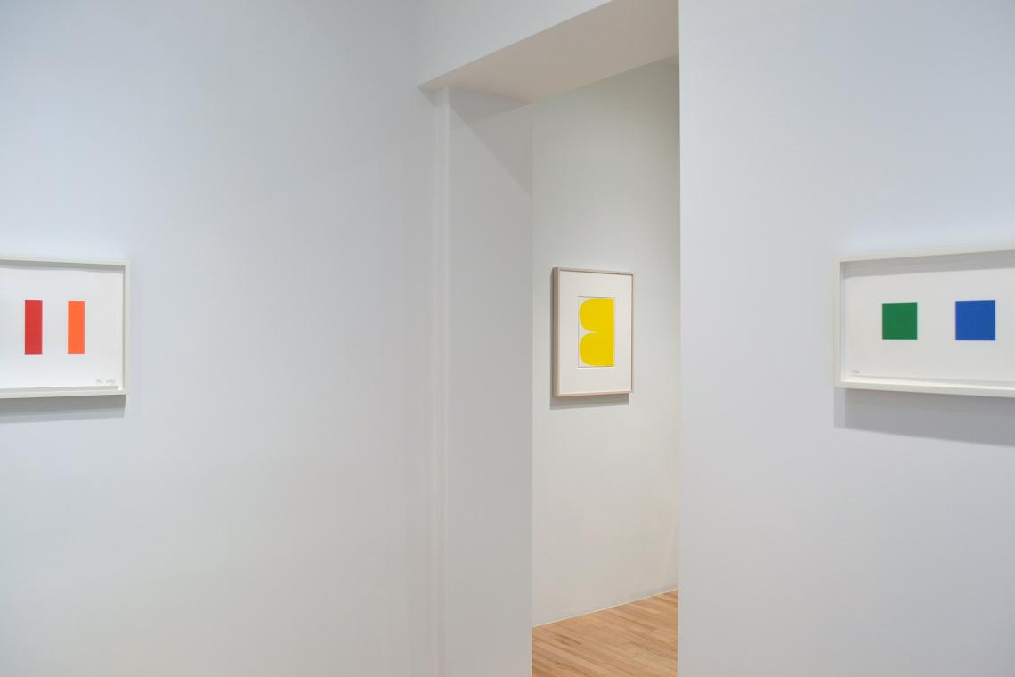Dartmouth, 2011; Yellow Curves, 2013; Color Squares 2, 2011