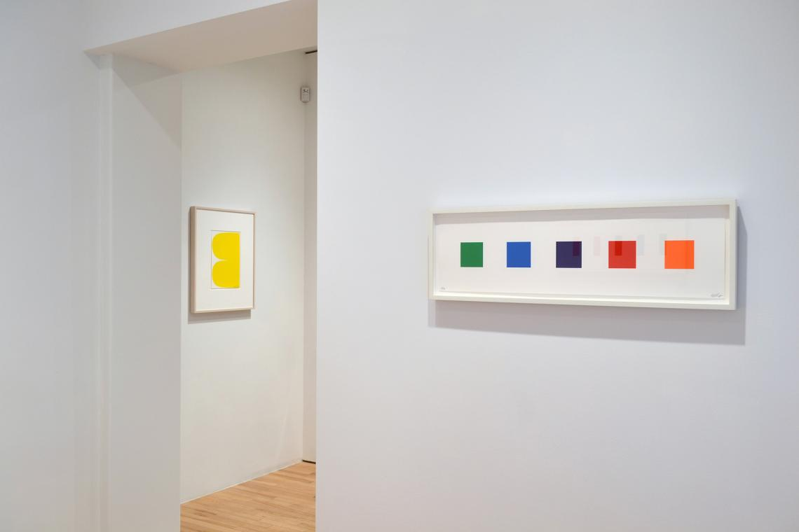 Yellow Curves, 2013; Color Squares 2, 2011
