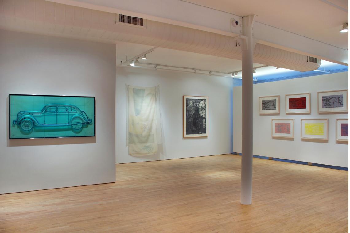 Claes Oldenburg, Profile Airflow, 1969; Robert Rauschenberg, Scent, 1974; Jasper Johns, Land's End, 1979; Roy Lichtenstein, Haystack Series, 1969