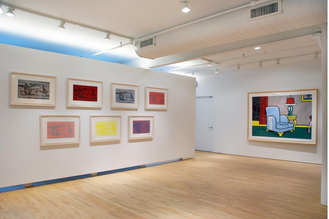 Roy Lichtenstein, Haystack Series, 1969; Roy Lichtenstein, La Sortie, 1991