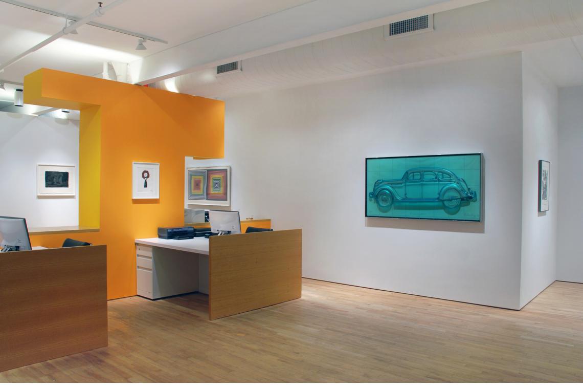 Jasper Johns, Ale Cans, 1975; Claes Oldenburg, Typewriter Eraser, 1970; Frank Stella, Double Gray Scramble, 1973; Claes Oldenburg, Profile Airflow, 1969