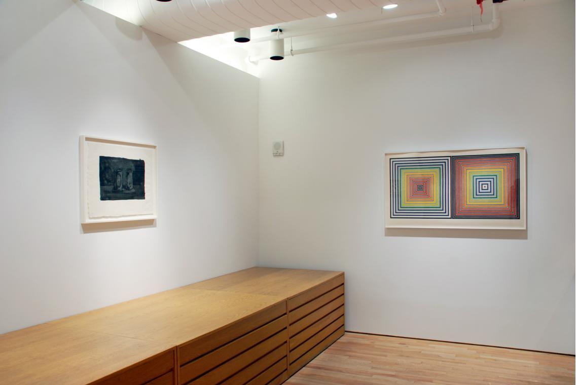 Jasper Johns, Ale Cans, 1975; Frank Stella, Double Gray Scramble, 1973
