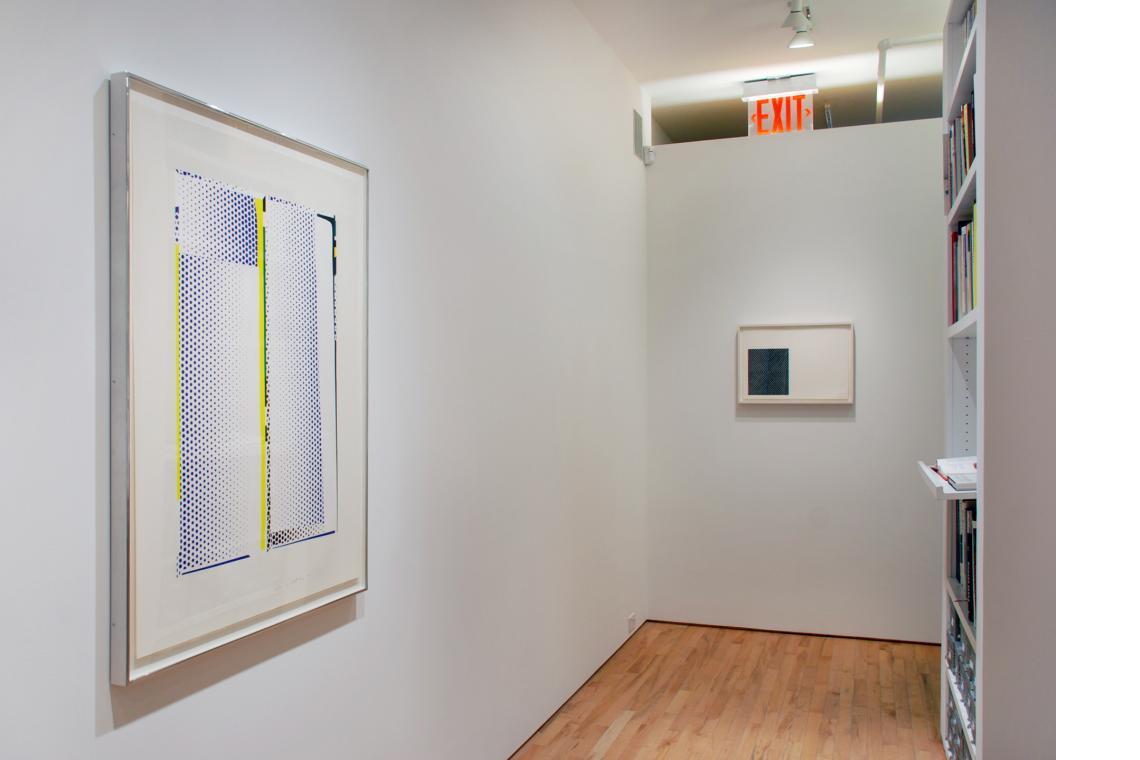Roy Lichtenstein, Mirror #9, 1972; Frank Stella, Zambesi, 1967