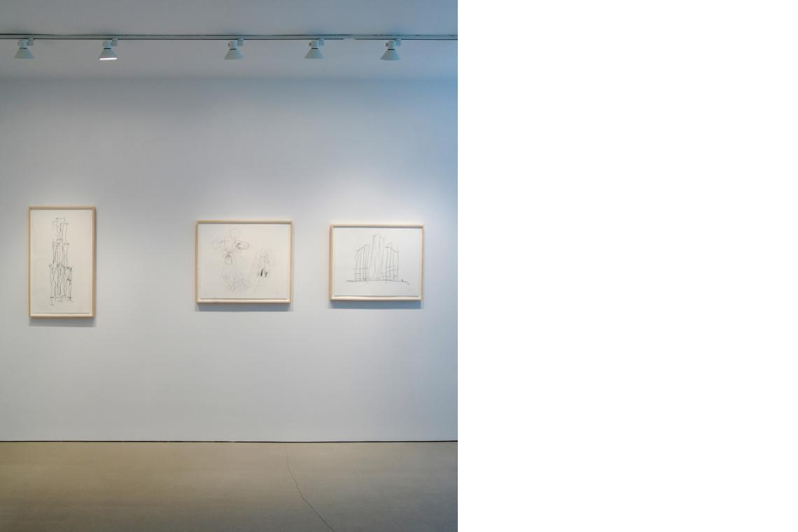 Left to right: Beekman Street Housing, 2009; Guggenheim Adu Dhabi Museum, 2009; Study 2, 2009