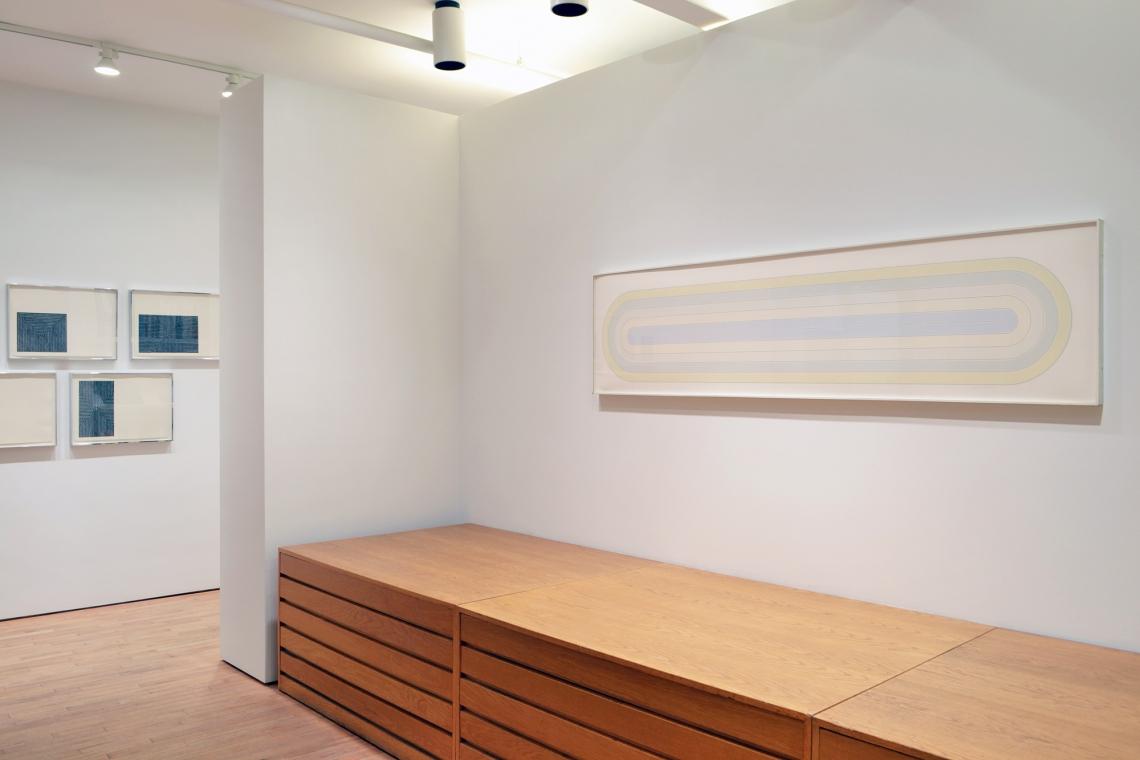 Frank Stella, Black Series I, 1967; Del Mar, 1972