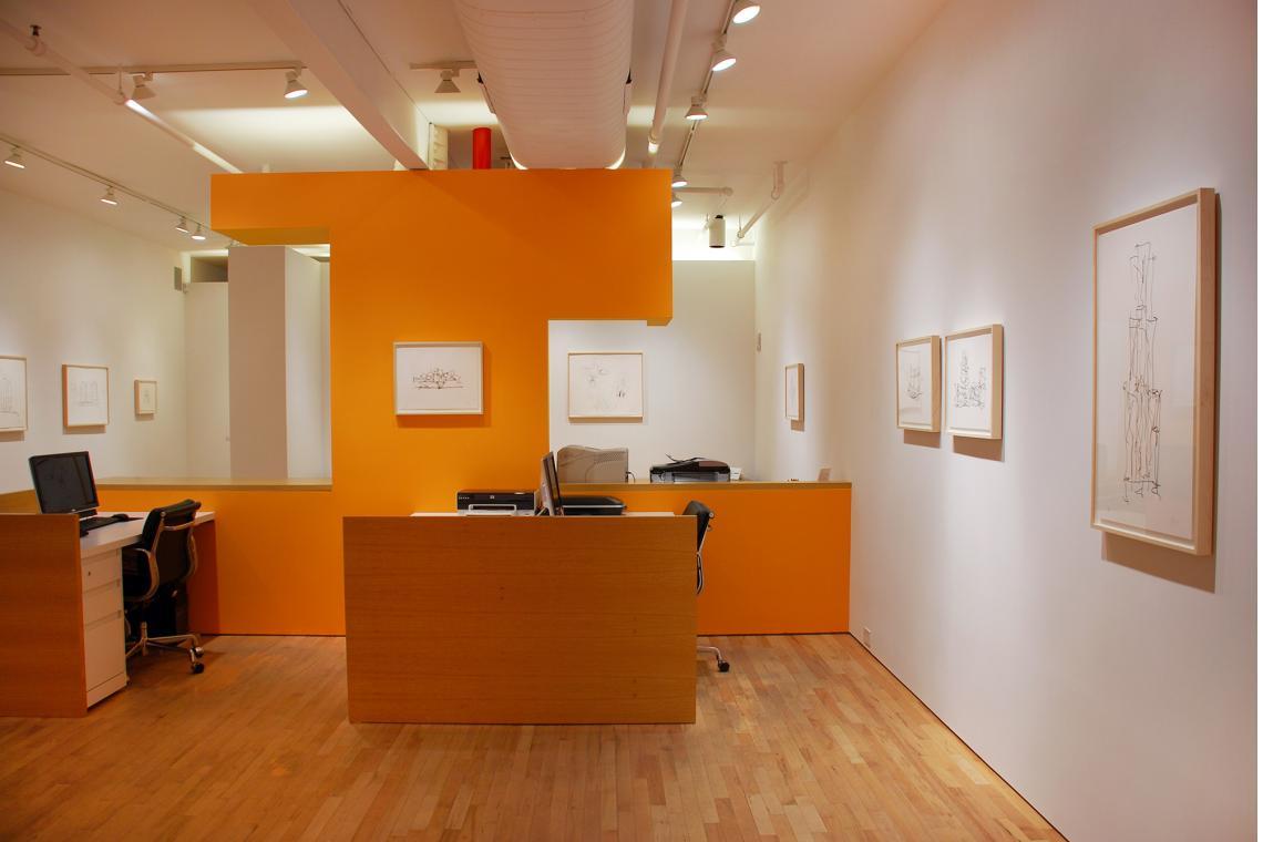 Study 2, 2009, IAC 2, 2007,Marques de Riscal Winery, 2009; Guggenheim Abu Dhabi Museum, 2009; Study 1, 2009;  Walt Disney Concert Hall, 2009; Brooklyn Atlantic Yards, 2009; Beekman Street Housing, 2009
