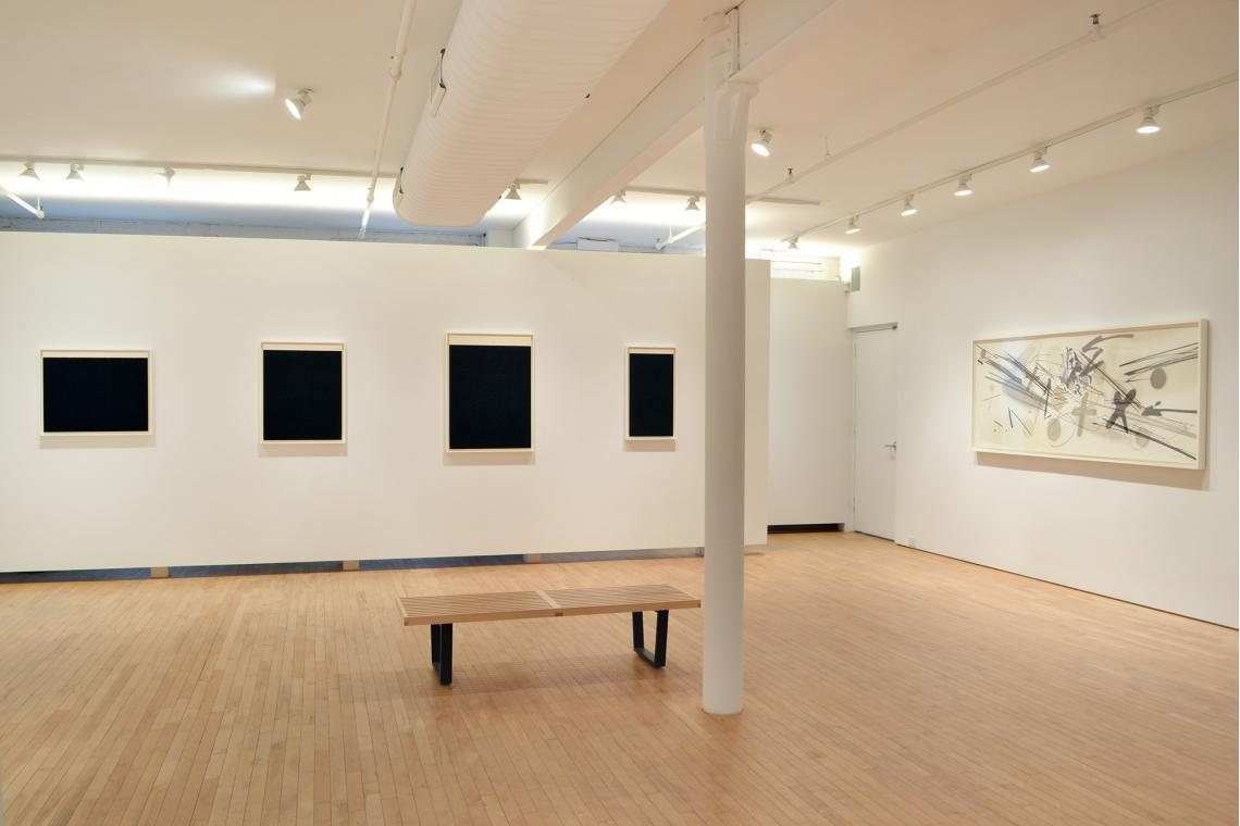 Richard Serra, Elevational Weight IV, 2016; Elevational Weight II, 2016; Elevational Weight I, 2016; Elevational Weight VI, 2016; Michael Heizer, Levitated Mass, 2015