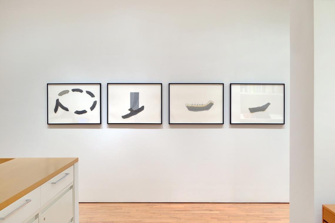 Richard Tuttle, Looking for Love I, 2015; Looking for Love II, 2015; Looking for Love III, 2015; Looking for Love IV, 2015