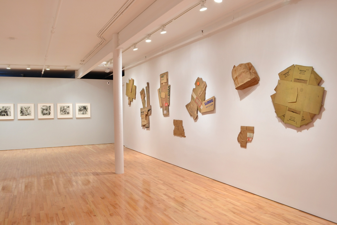Robert Rauschenberg, Series of seven lithographs from the deluxe edition of XXXIV Drawings for Dante's Inferno, 1964; Cardbird Series, 1971; Tampa Clay Pieces, 1972-73.