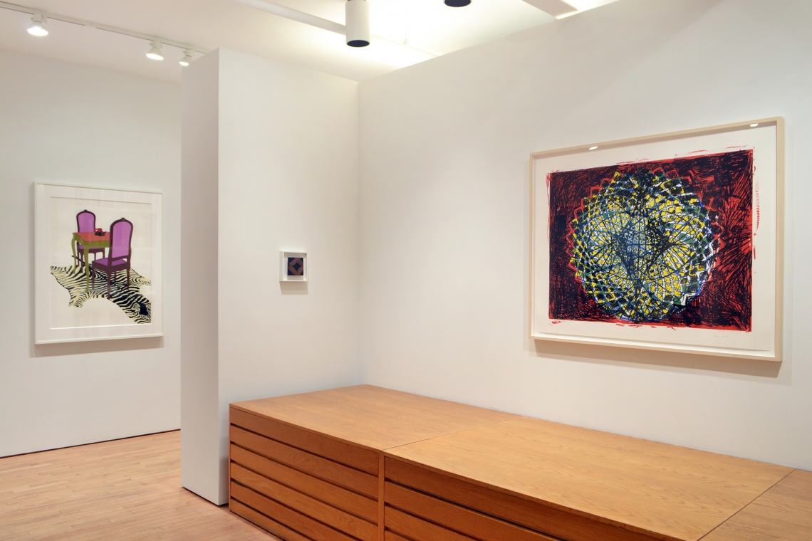 Ken Price, Texas Turtle Cup, 1971; Richard Tuttle, Tile II (five inches), 2011; Terry Winters, Clocks and Clouds/1, 2013.