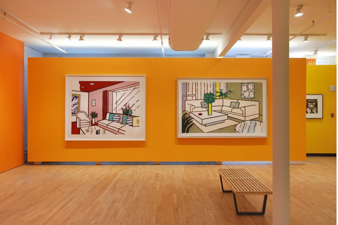 Roy Lichtenstein, Living Room, 1991; Roy Lichtenstein, Yellow Vase, 1991; Man Ray, Untitled, 1966