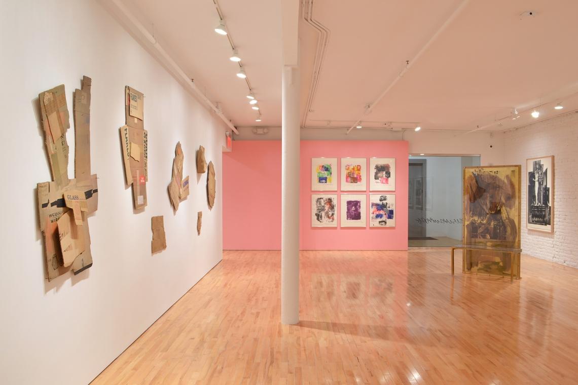 Robert Rauschenberg, Cardbird Series, 1971; Tampa Clay Pieces, 1972-73; Reels (B+C), 1968; Borealis Share II, 1990; Bellini #4, 1988.
