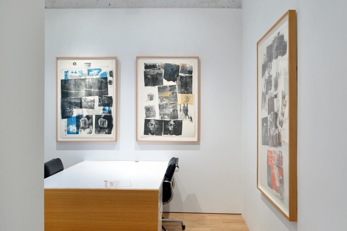 Robert Rauschenberg, Guardian, 1968; Landmark, 1968; Water Stop, 1968.