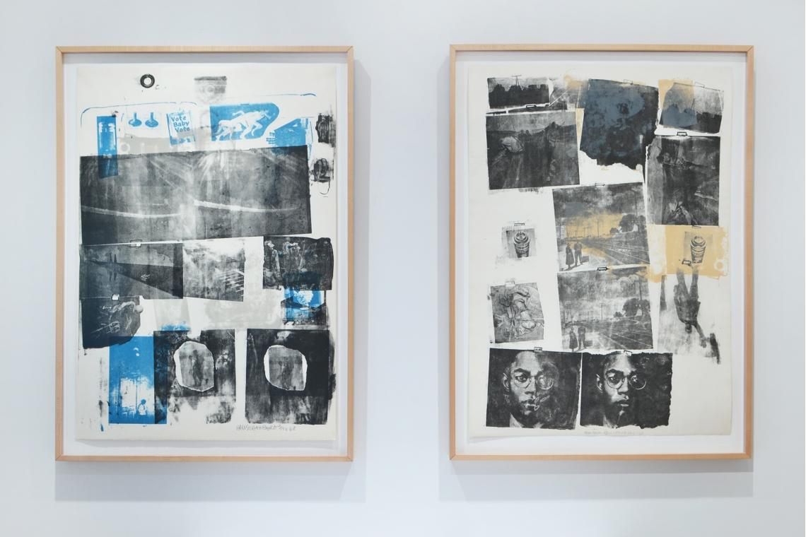 Robert Rauschenberg, Guardian, 1968; Landmark, 1968.