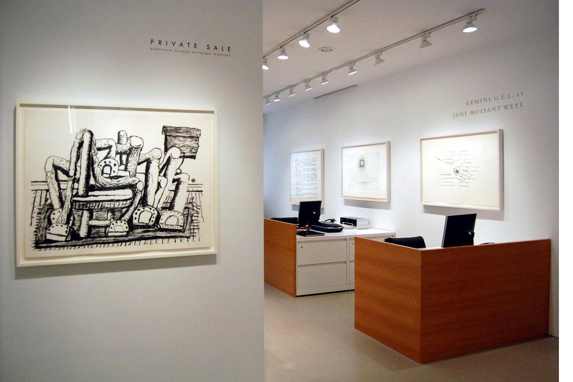 Left to right: Philip Guston, Room, 1980; Robert Gober, Untitled, 2000; Untitled, 2000; Untitled, 2000