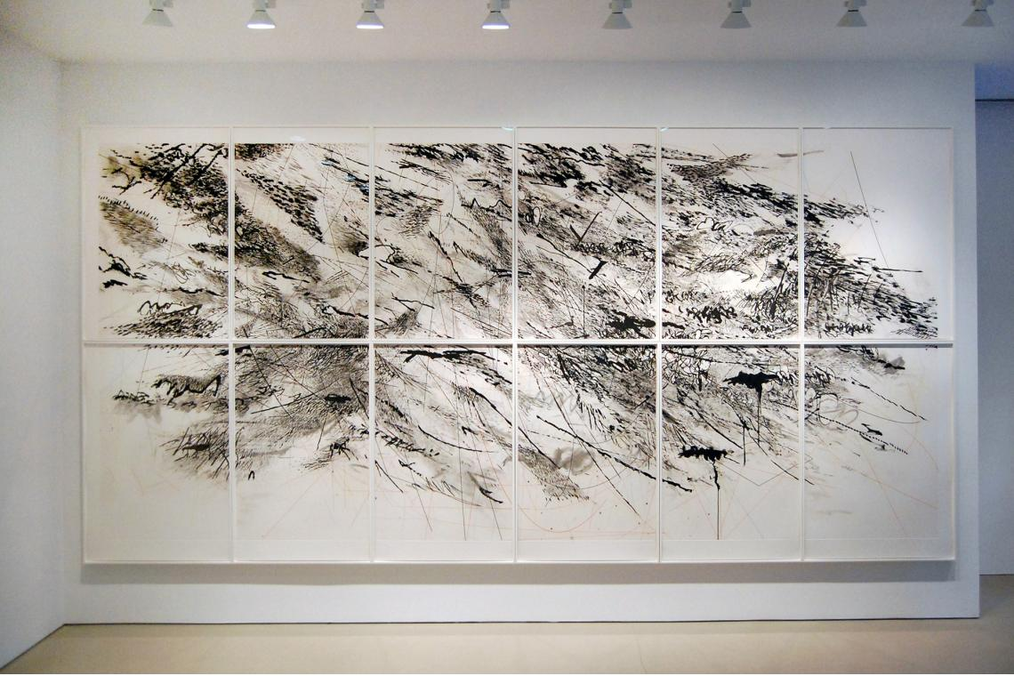 """Auguries (2010), 12-panel aquatint with spit bite (from 48 plates), 87 x 180"""" (221 x 457.2 cm)"""