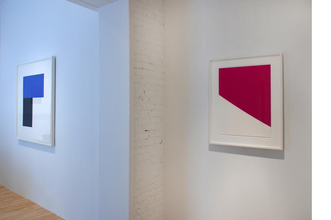 Blue with Black I, 1974; Purple Curve, 2000