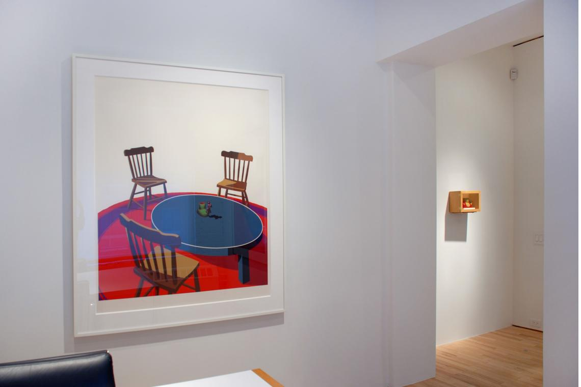 Chairs, Table, Rug, Cup, 1971; The Fireworm Cup, 1991