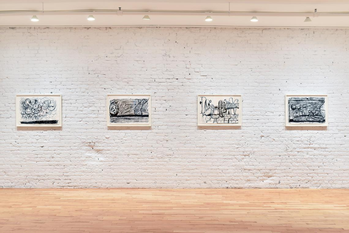 Philip Guston, Sky, 1983; Scene, 1981; Remains, 1979; Easel, 1983.