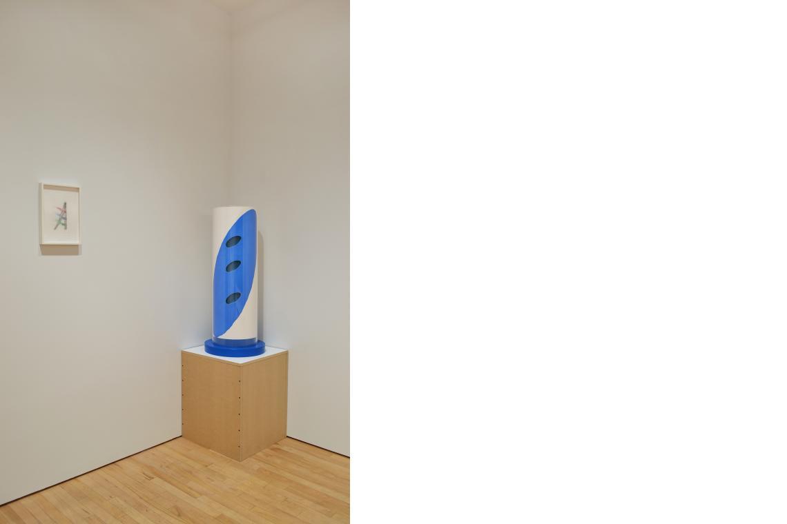 Richard Tuttle, Nature-Media/I, 2014; Richard Tuttle, Blue in the Corner, 2014