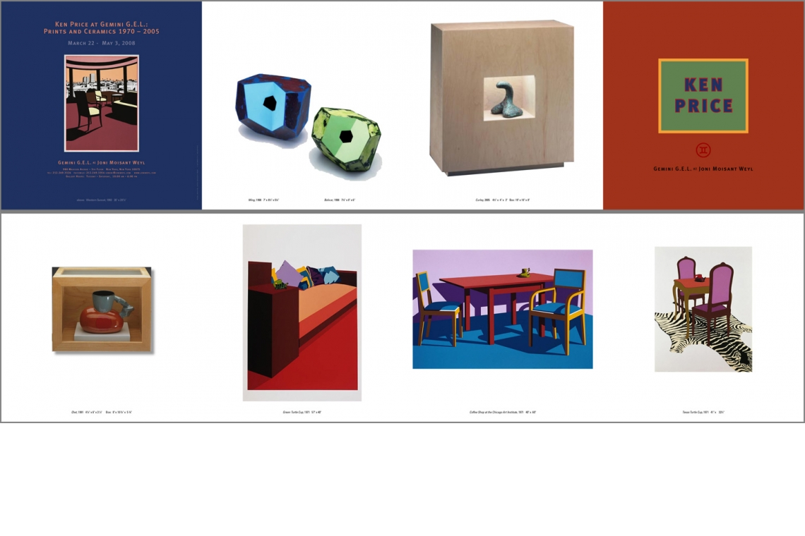 Ken Price at Gemini G.E.L.:Prints and Ceramics Announcement Card
