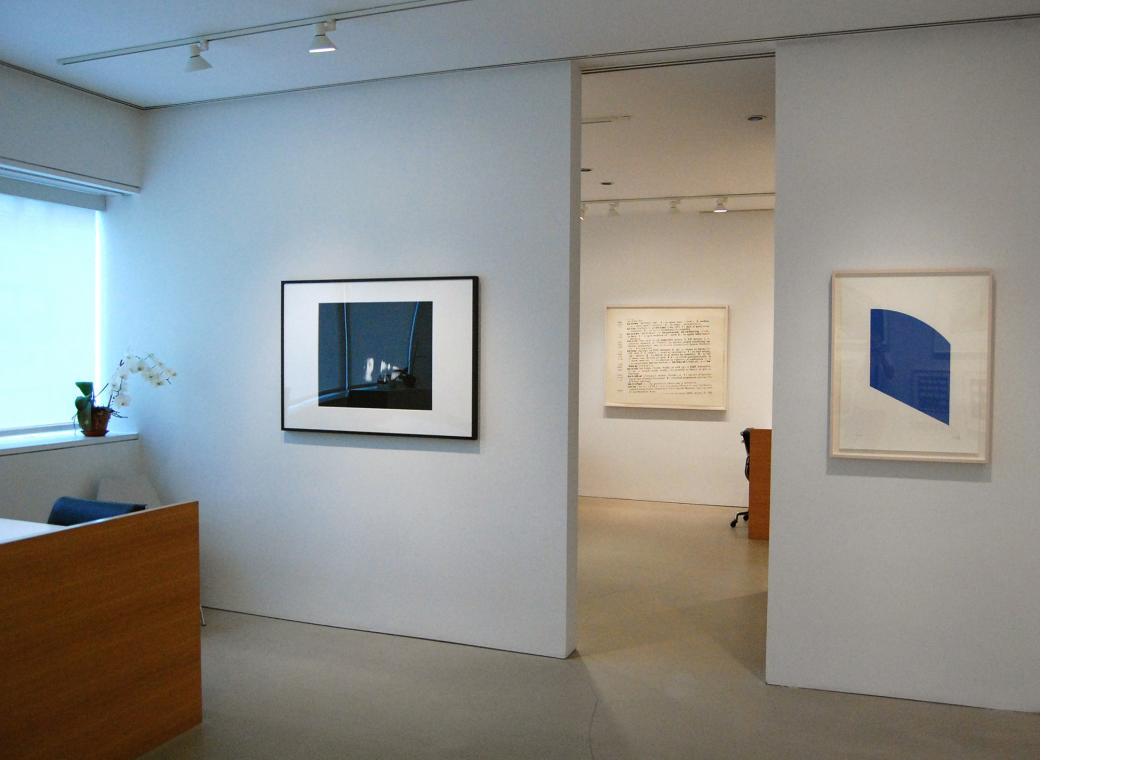 Left to right: Ann Hamilton, face...inigo, 2003; Ellsworth Kelly, Blue, 2003