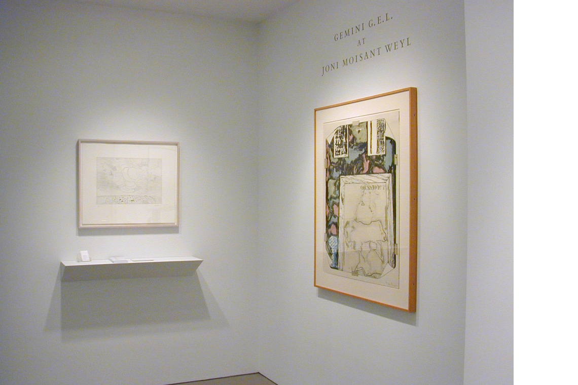 From left to right: Saul Steinberg, North Dakota; Jasper Johns, Untitled