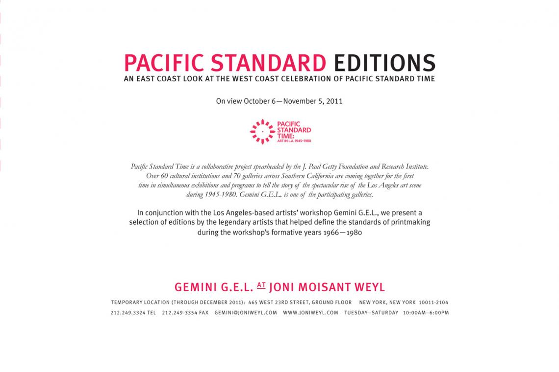 Pacific Standard Editions Exhibition (2011) Announcement Card