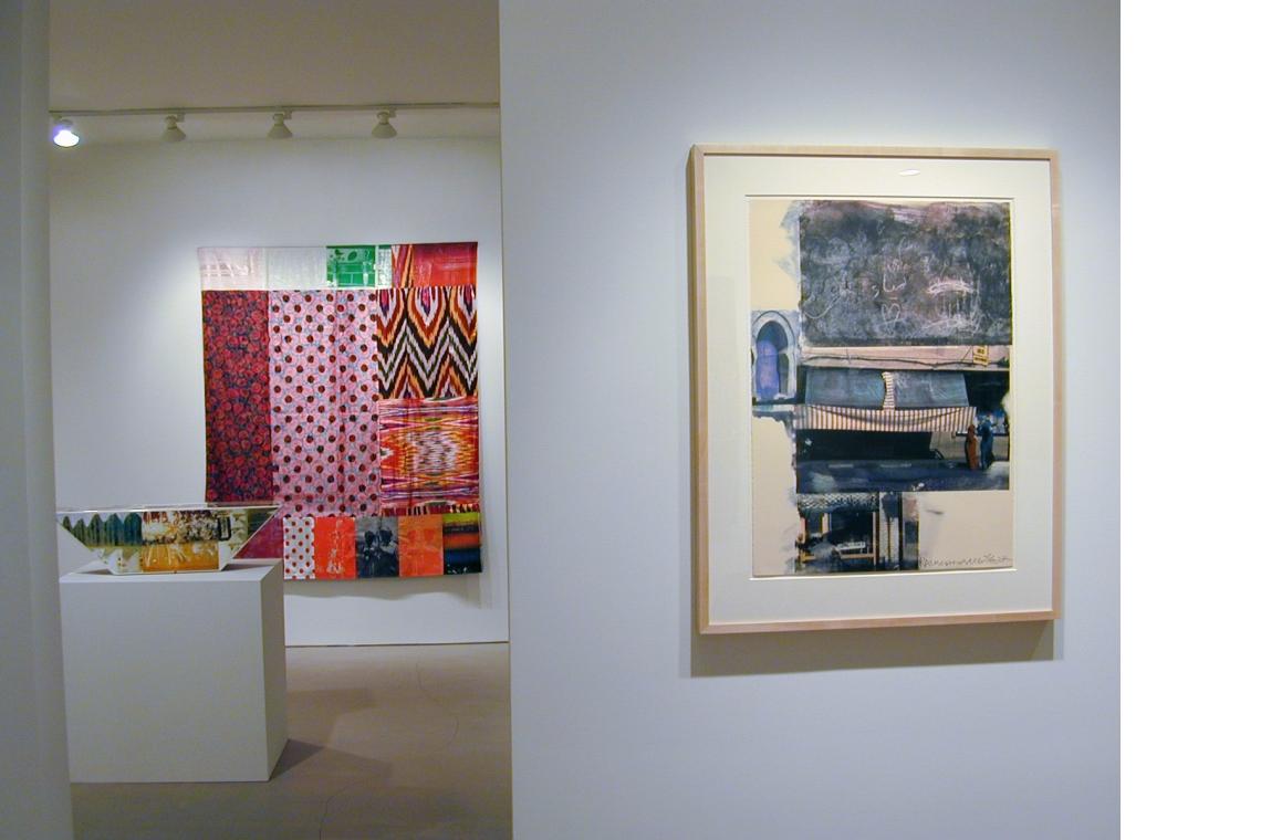 Left to Right: Tibetan Keys-Double Bevel 1986, Samarkand Stitches #I 1988, Gossip (Marrakitch) 2000
