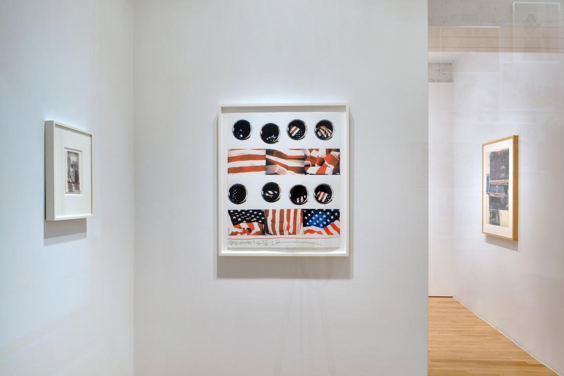 Robert Rauschenberg, Spackle, 1990; Wash, 2001; Gossip (Marrakitch), 2000