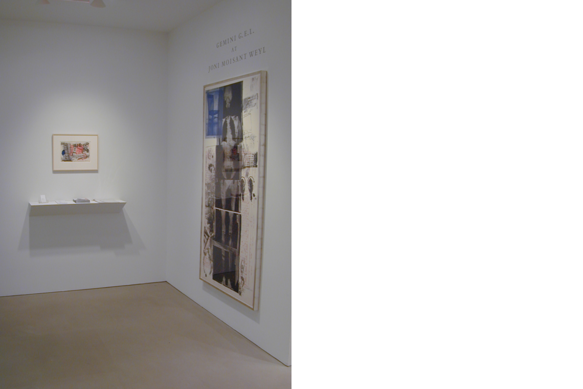 From left to right: Robert Rauschenberg,Sub-Total, 1971; Booster, 1967