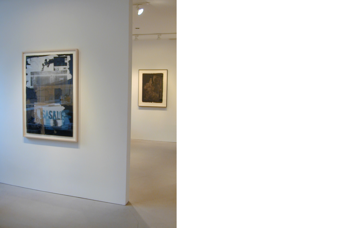From left to right: Robert Rauschenberg, Fence, 1991; Earth Crust, 1969