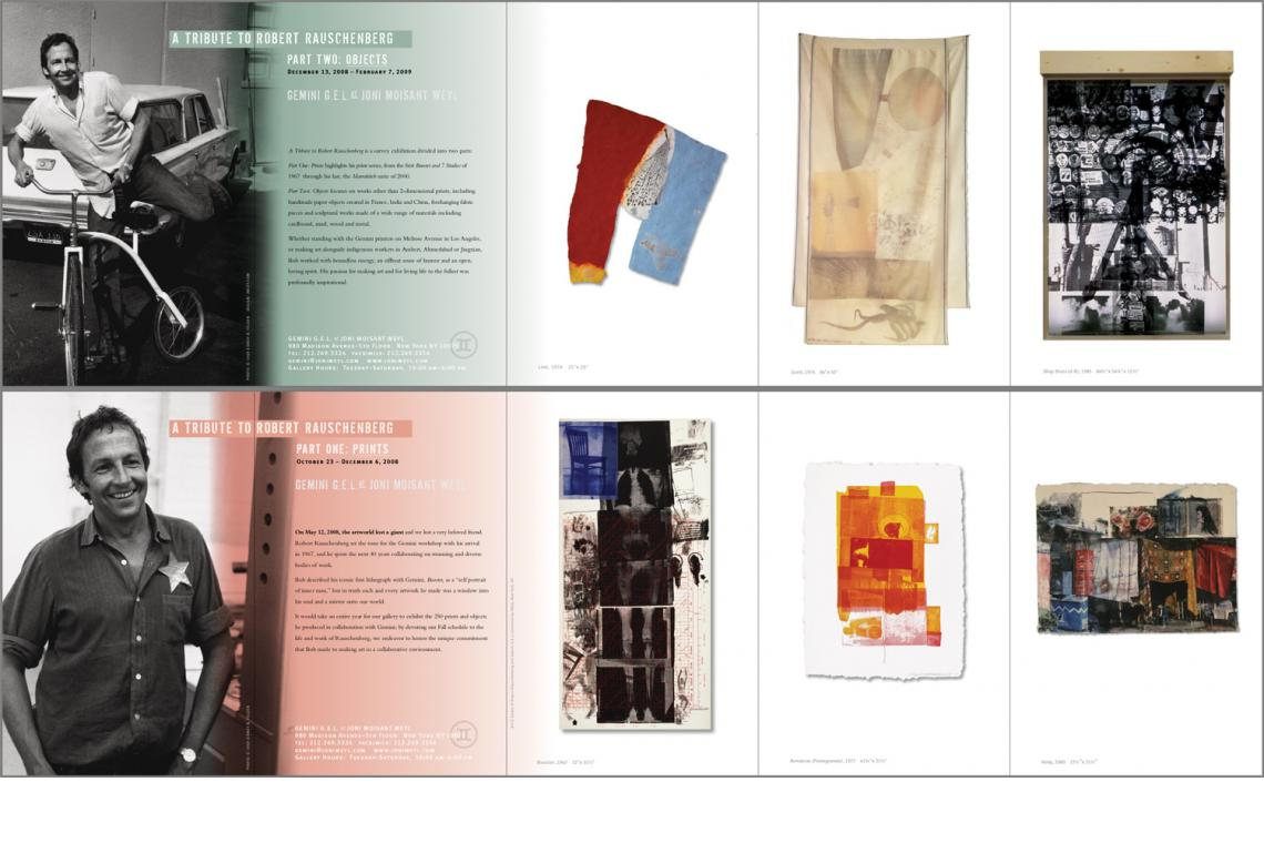 A Tribute to Robert Rauschenberg 2008 Announcement Card