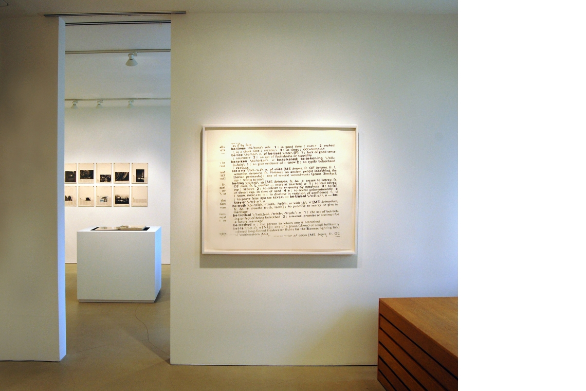 Left to Right: Sophie Calle – The Address Book, 2009; Robert Gober - Untitled, 2000.