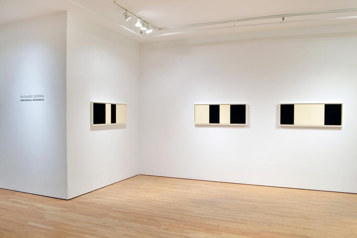Richard Serra, Horizontal Reversal I, 2017; Horizontal Reversal II, 2017; Horizontal Reversal III, 2017.