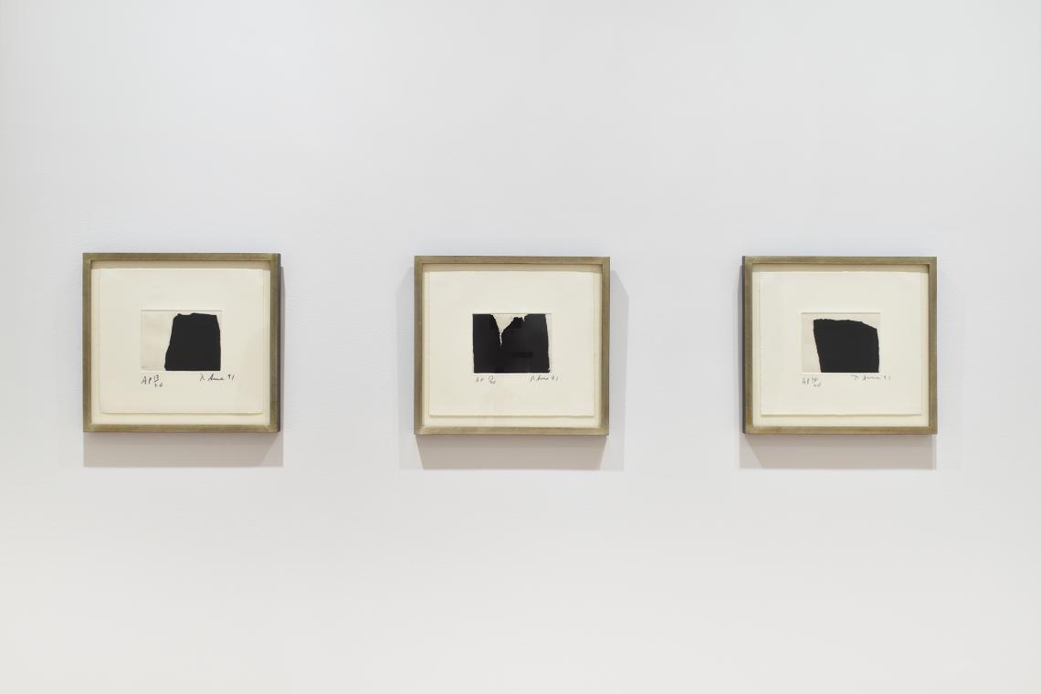 Richard Serra, Videy Afangar #1, 1991; Videy Afangar #4, 1991; Videy Afangar #3, 1991.
