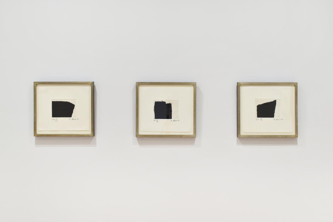 Richard Serra, Videy Afangar #7, 1991; Videy Afangar #5, 1991; Videy Afangar #10, 1991.