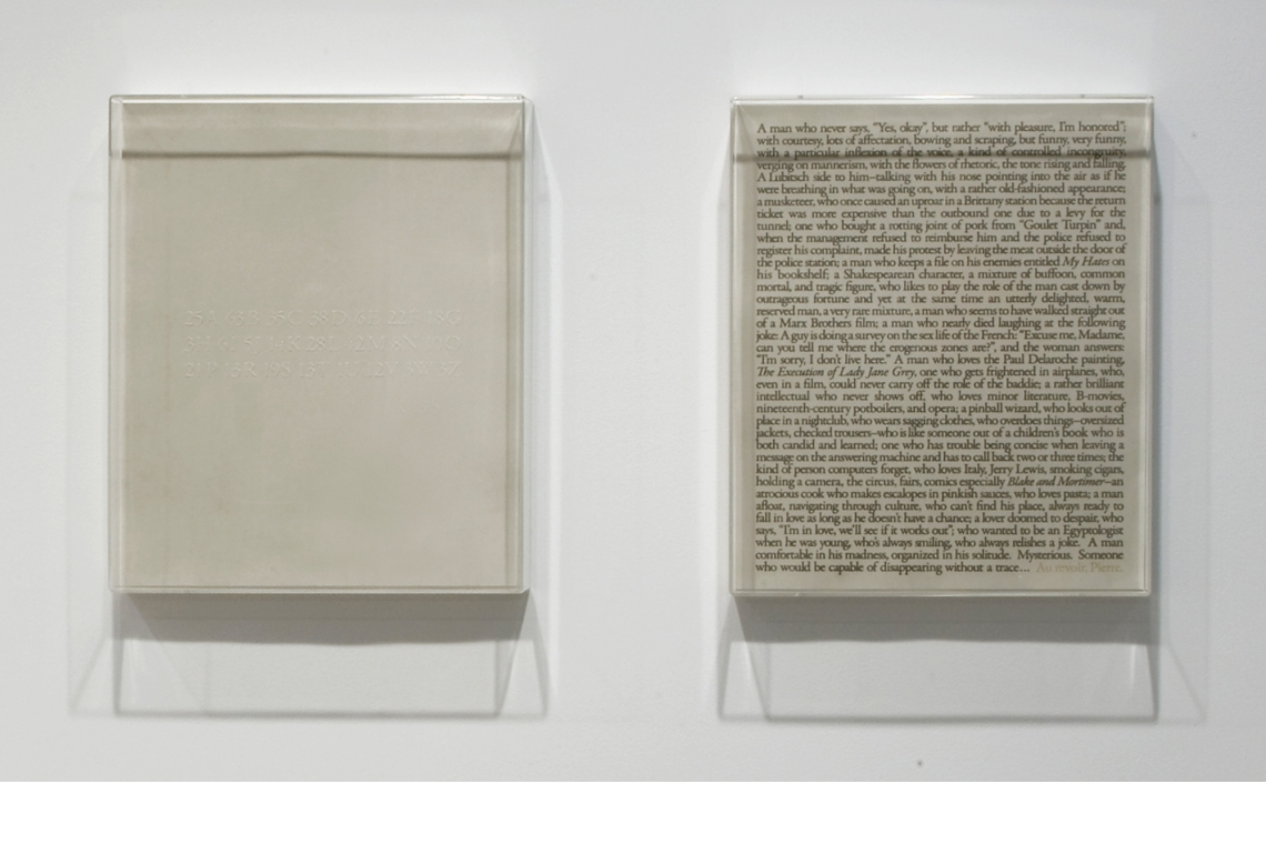 From Left to Right: Sophie Calle – The Address Book (detail)